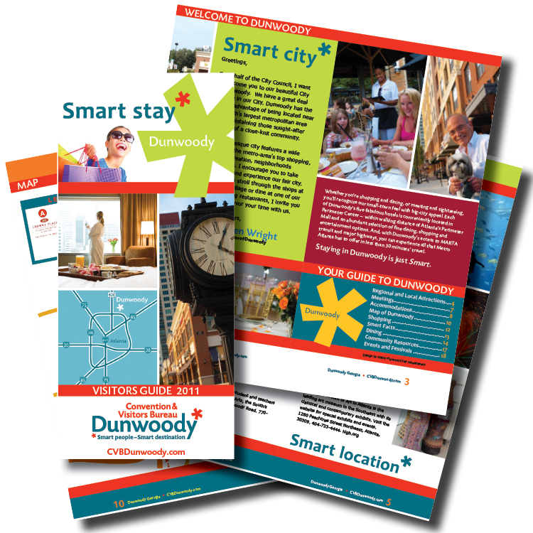20-page welcome brochure for the city of Dunwoody, GA